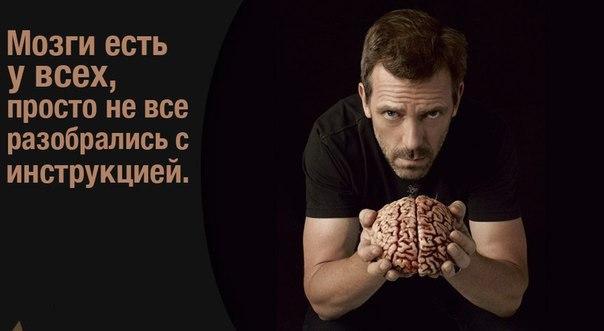 Доктор Хаус цитаты, мозги есть у всех, как пользоваться мозгами правильно,